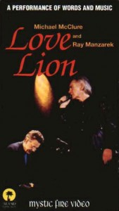 Love Lion vhs - Michael McClure & Ray Manzarek